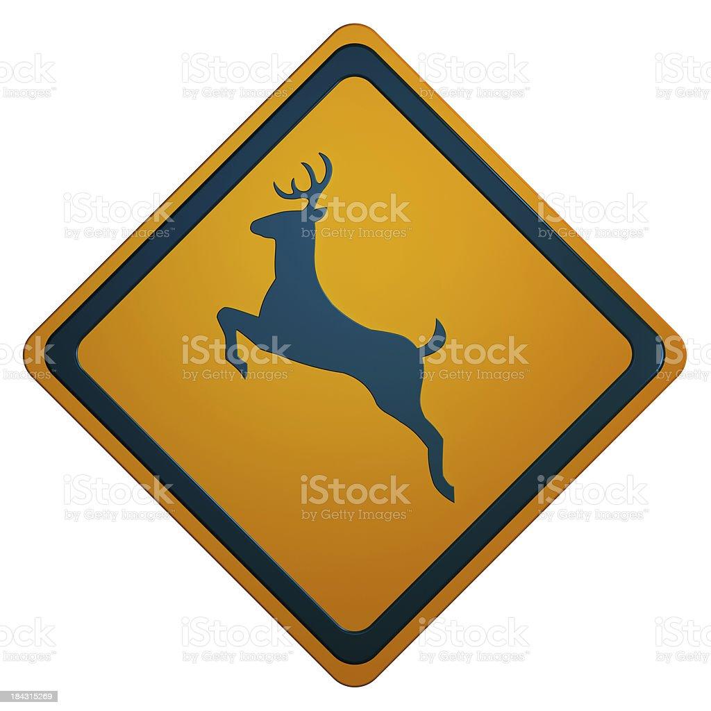 Deer Crossing Sign stock photo