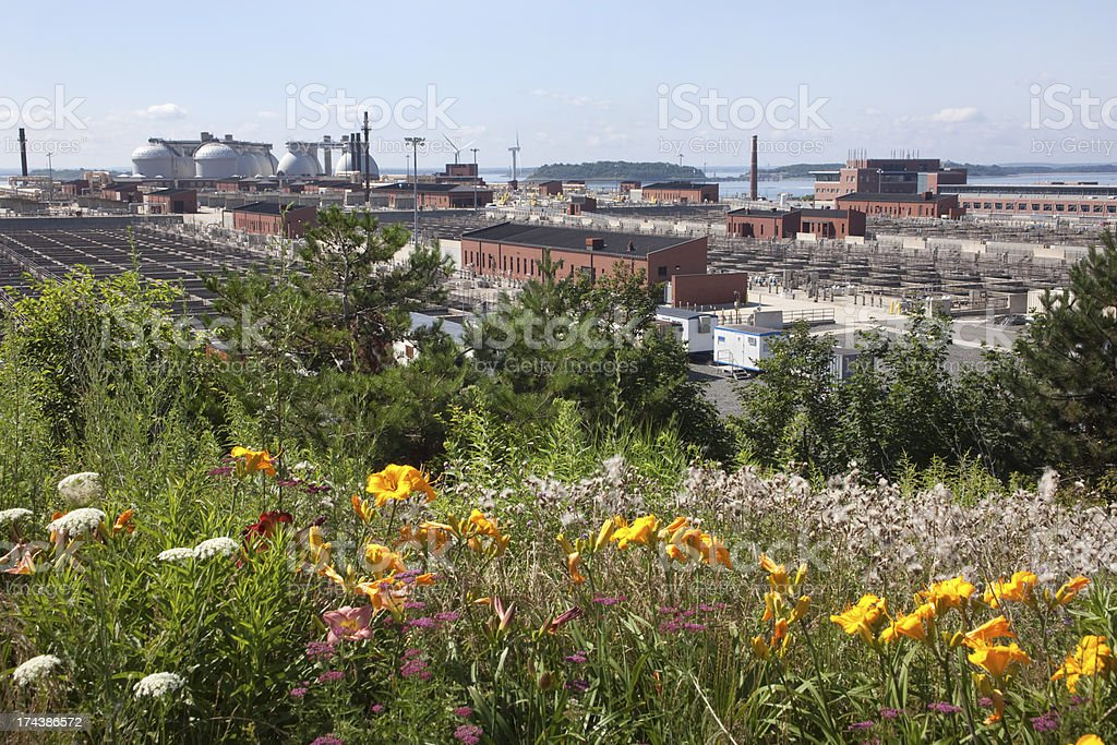 Deer Island Wastewater Treatment Plant Boston Massachusetts royalty-free stock photo