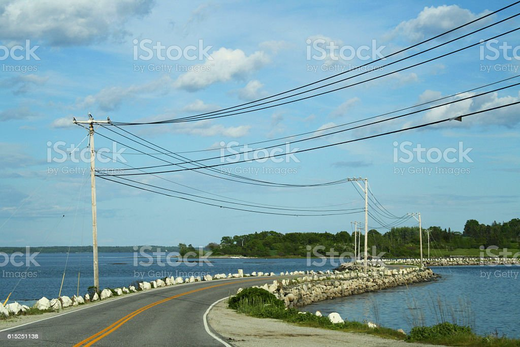Deer Isle, Maine Causeway stock photo