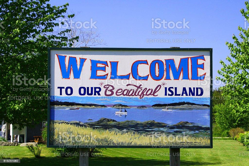 Deer Isle, Maine:  Welcome to our Beautiful Island stock photo