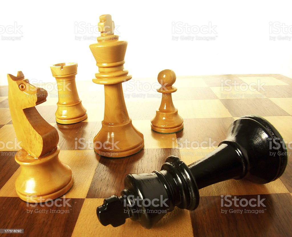 Defeat the king. royalty-free stock photo