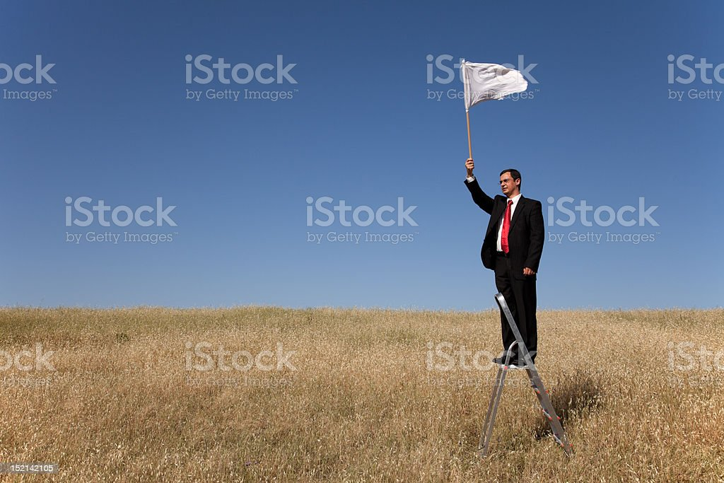 Defeated businessman stock photo