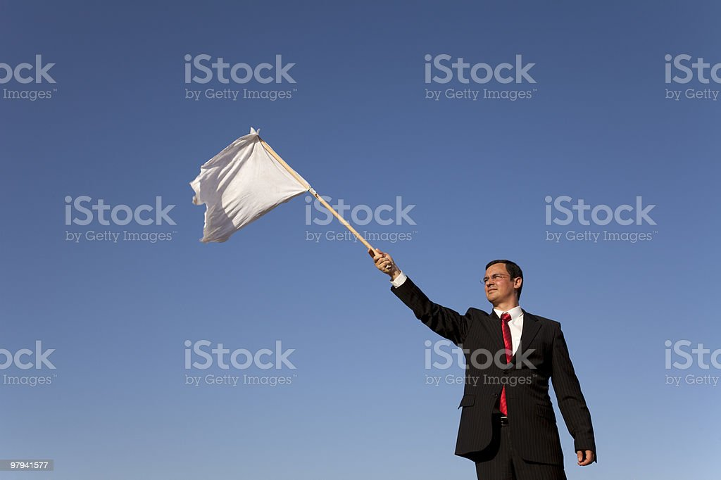 Defeated businessman royalty-free stock photo