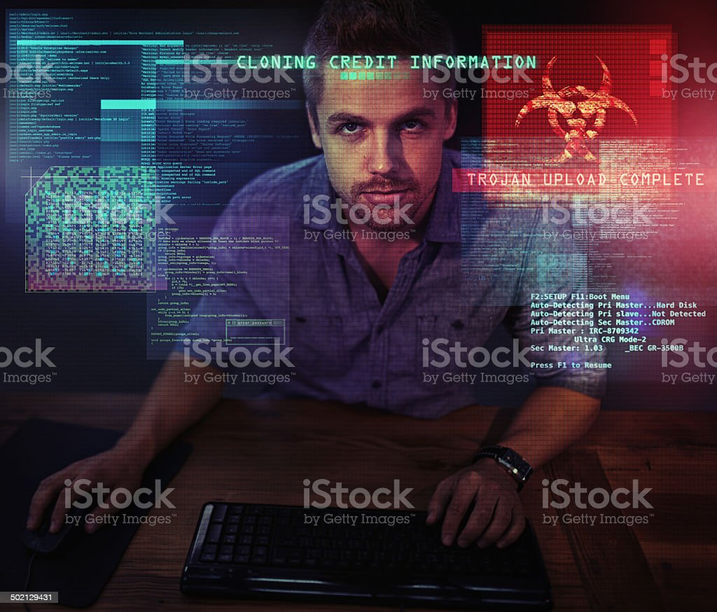 Defending cyberspace against piracy stock photo