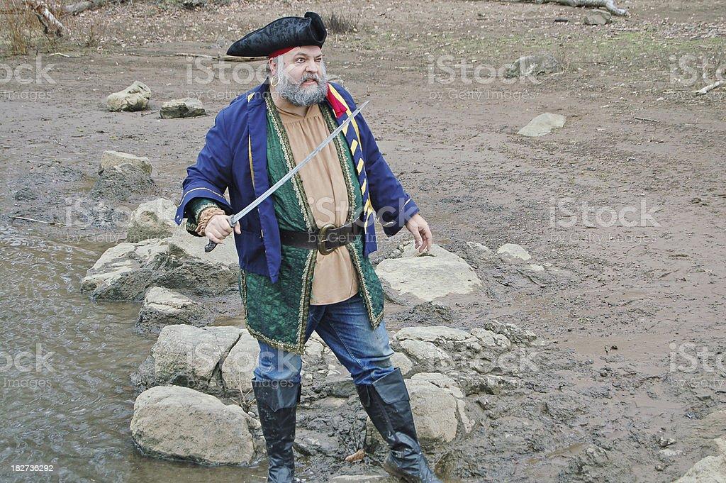Defending Pirate stock photo