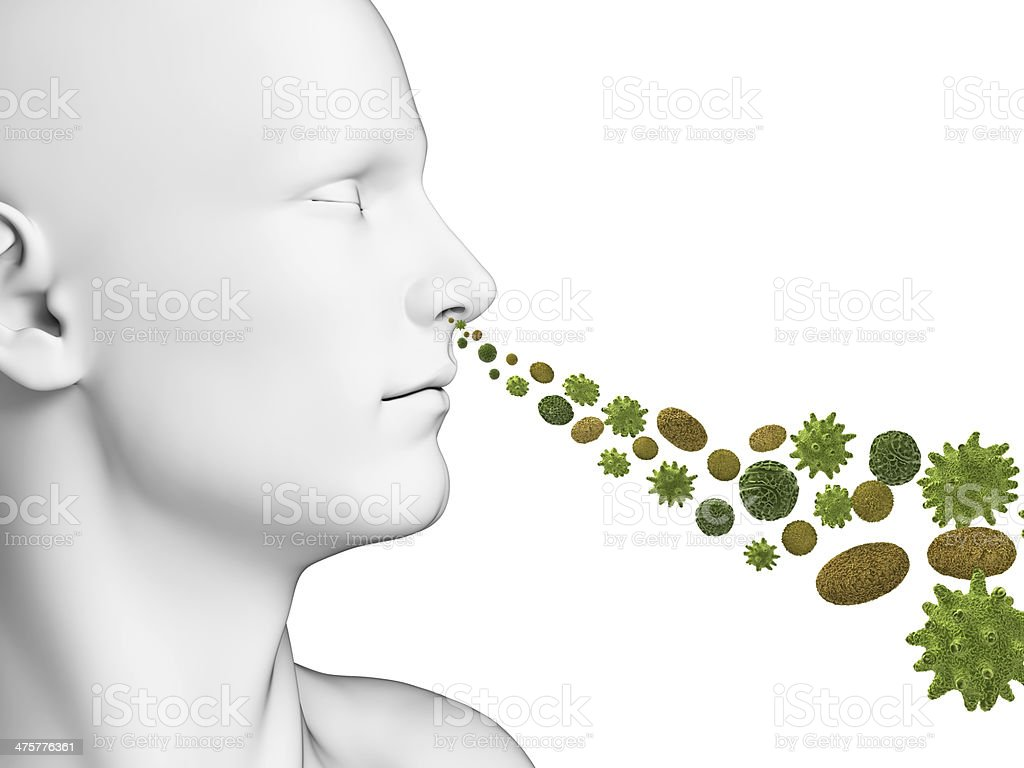 defending pollen royalty-free stock photo