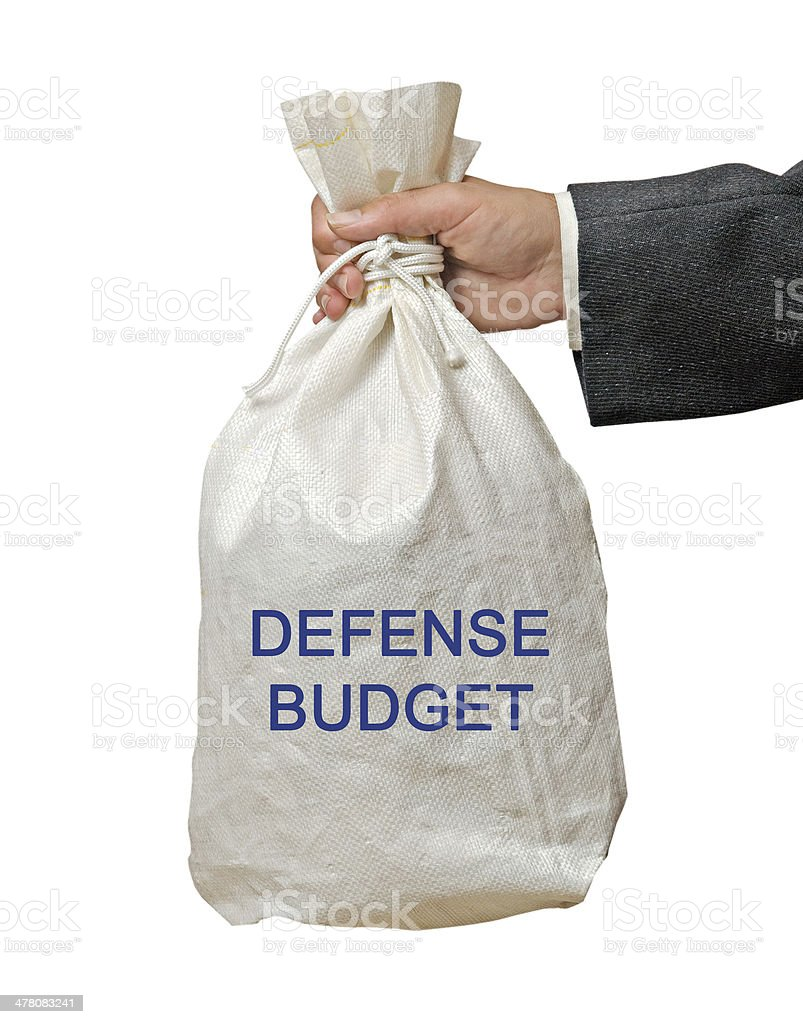 Defense budget royalty-free stock photo