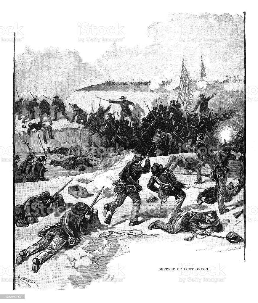 Defense of Fort Gregg stock photo