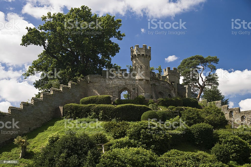 Defensive castle walls stock photo