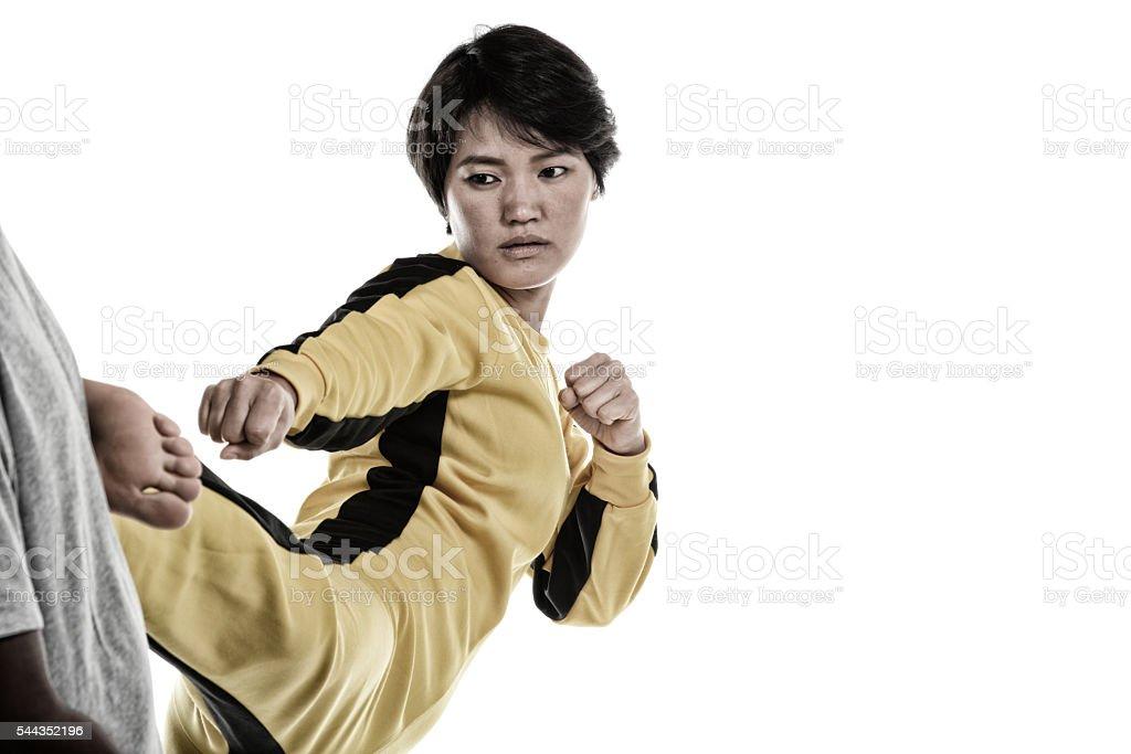 Defensive Training stock photo
