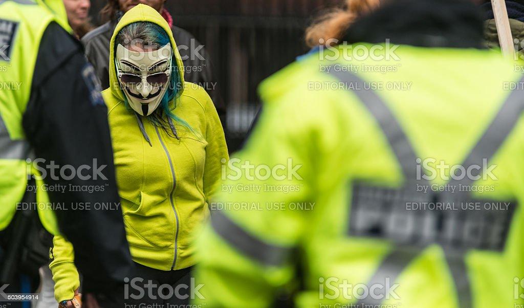 Defiant Anonymous Member stock photo