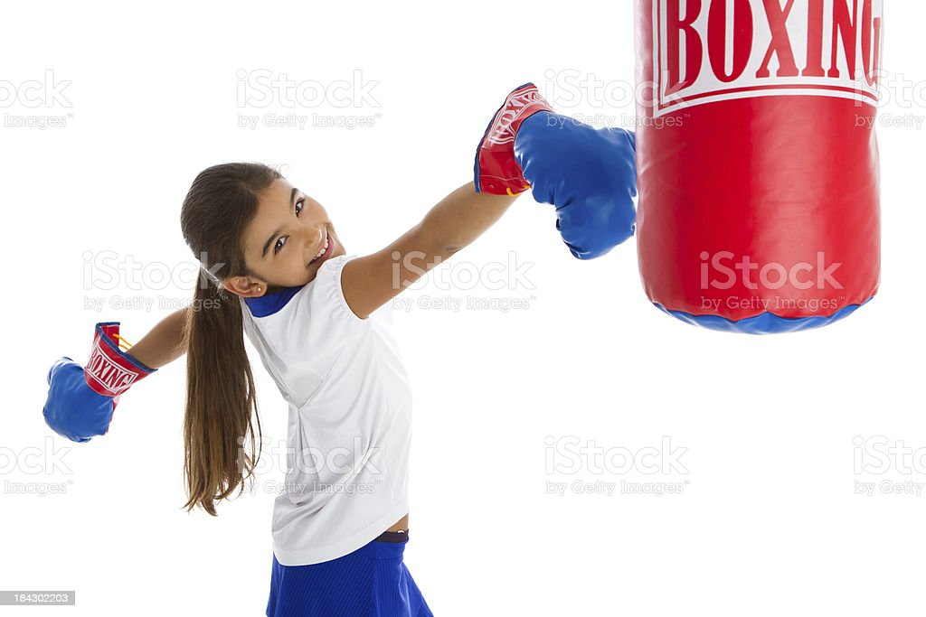 Defiant little boxer stock photo