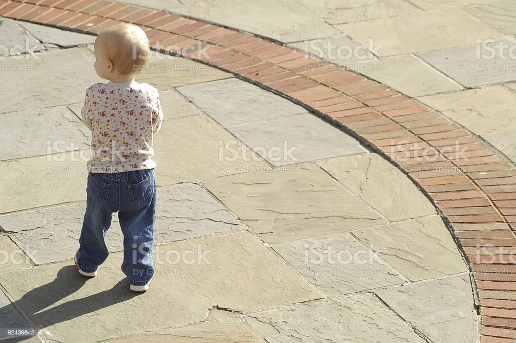 Defiant Toddler stock photo