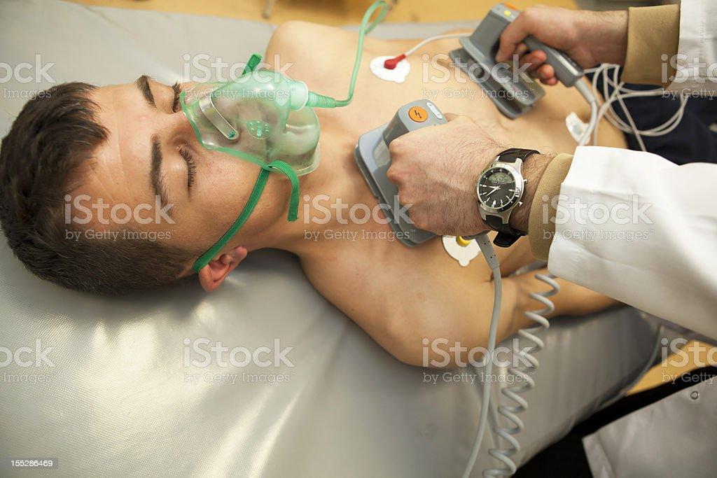 defibrillation royalty-free stock photo