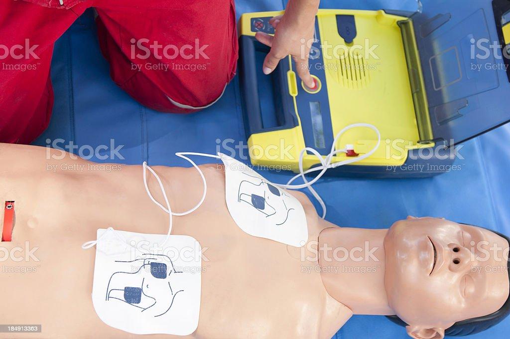 Defibrillator CPR stock photo