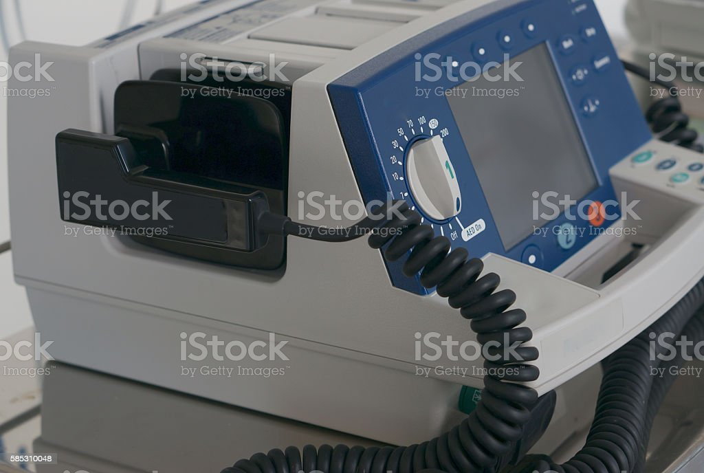 Defibrillator in ER stock photo