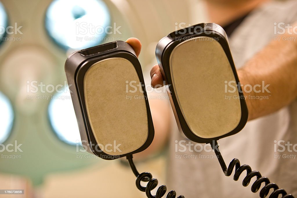Defibrillator Paddles From a Patient's Perspective royalty-free stock photo