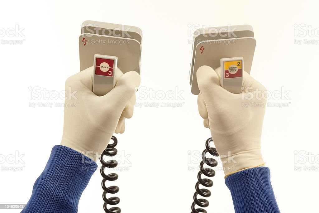 Defibrillator royalty-free stock photo