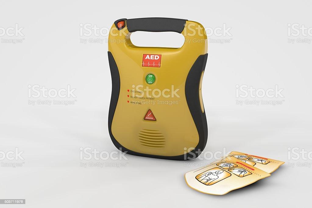 AED Defibrillator stock photo