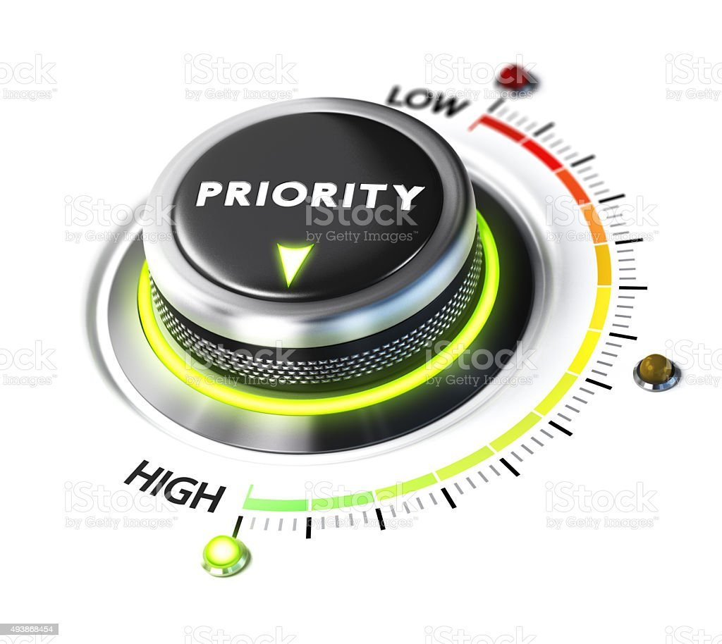 Define High Priority stock photo