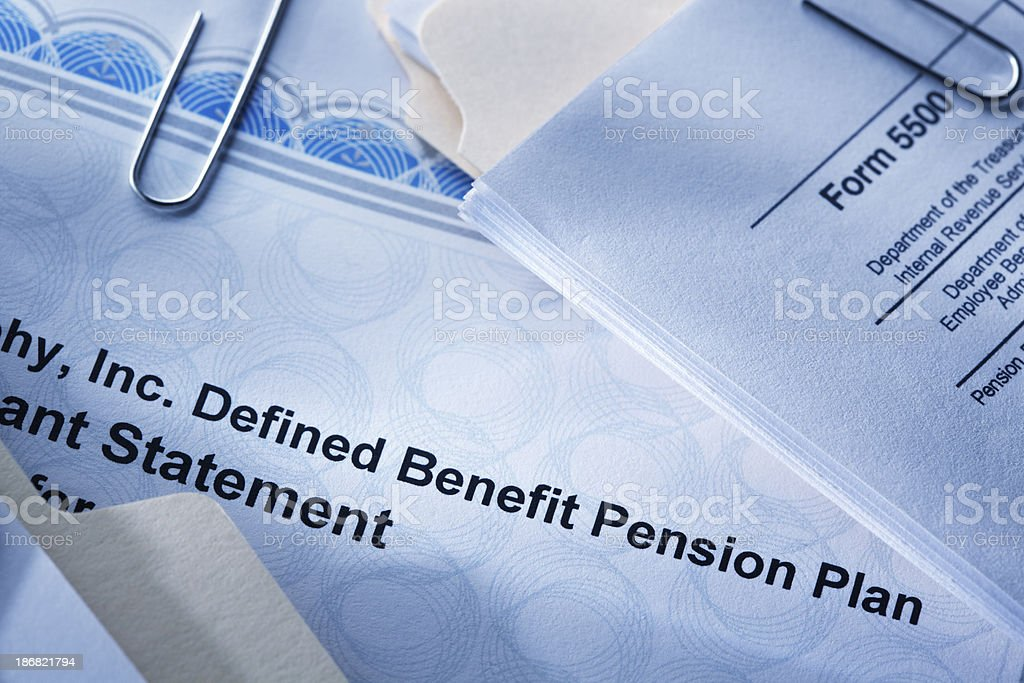 Defined Benefit Plan stock photo