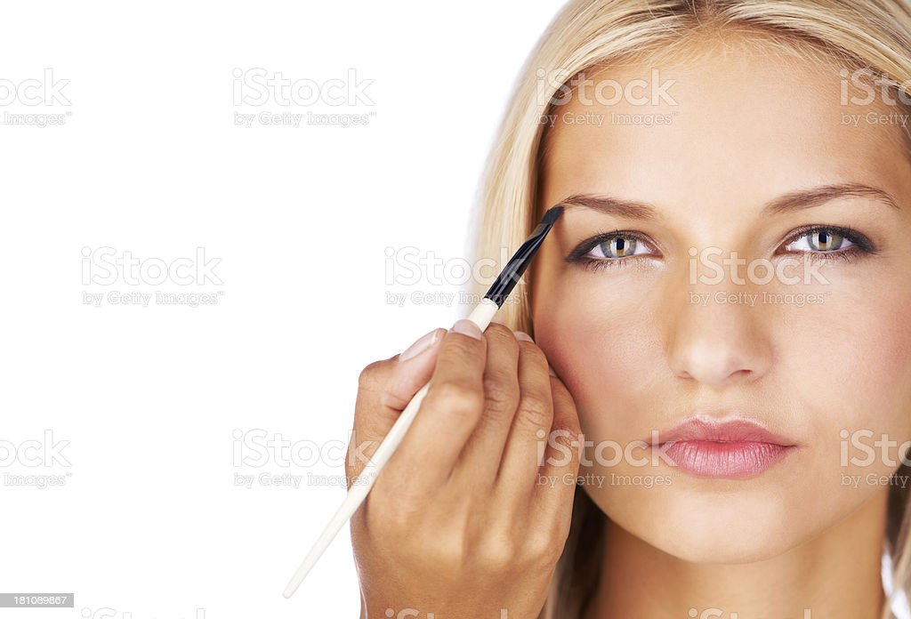 Defined brows create a perfect frame stock photo
