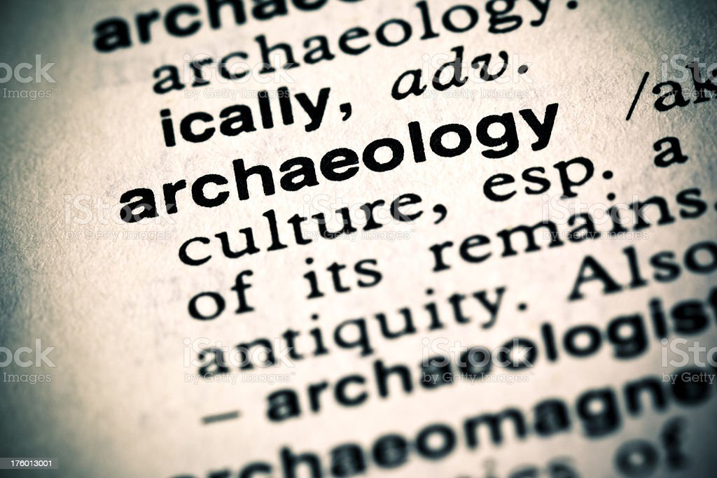 Definition: Archaeology royalty-free stock photo