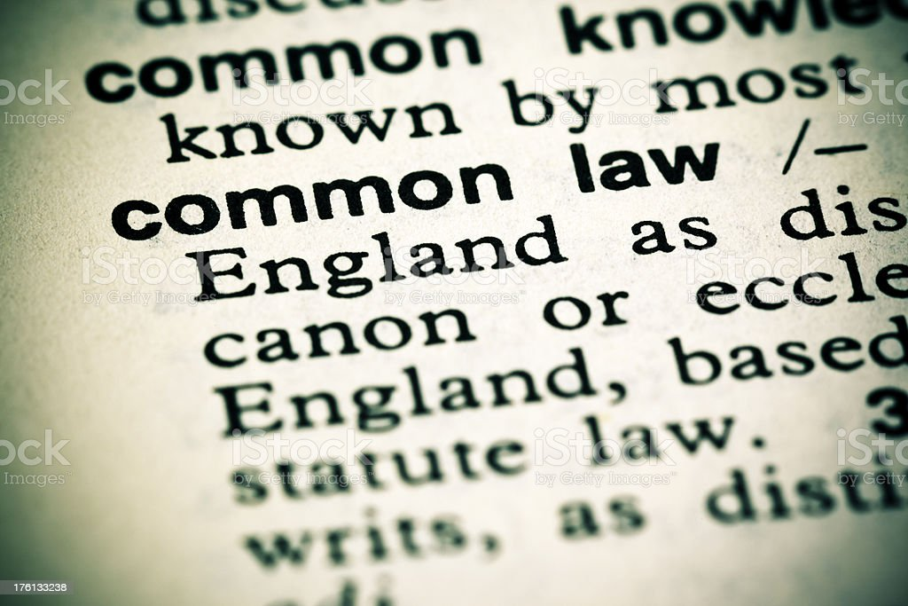 Definition: Common Law stock photo