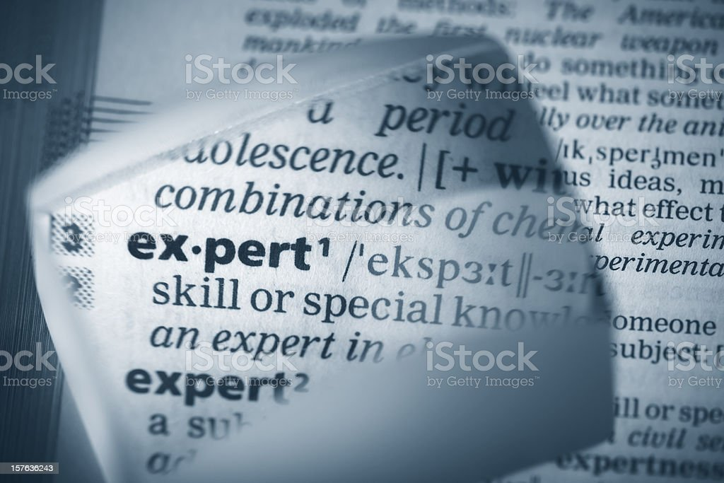 Definition 'expert' royalty-free stock photo