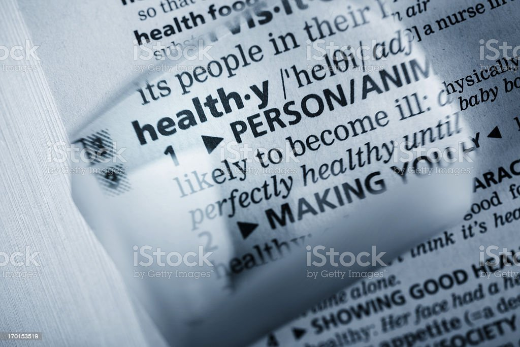 Definition 'healthy' royalty-free stock photo