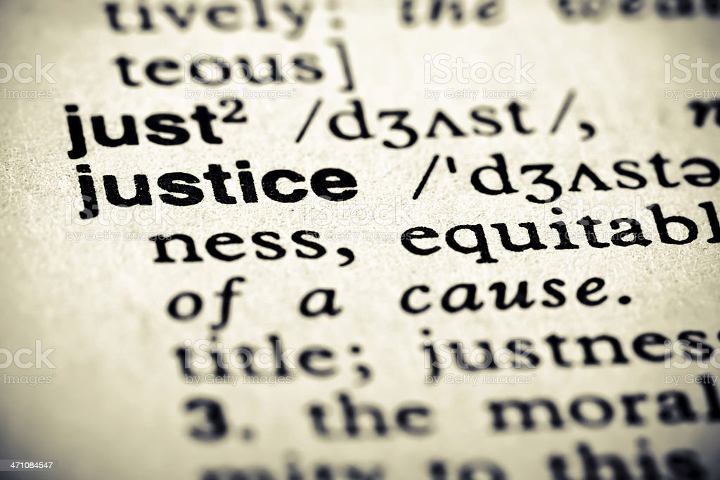 Definition: Justice royalty-free stock photo