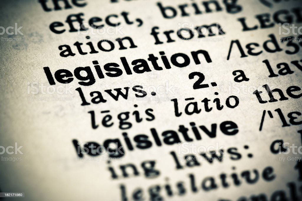 Definition: Legislation stock photo