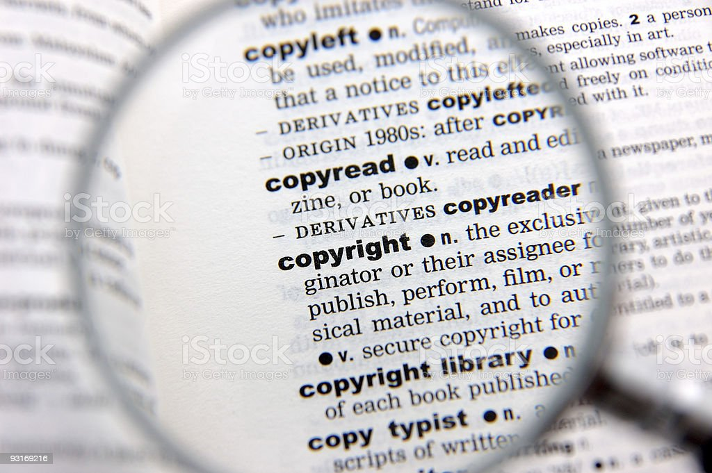 Definition of copyright royalty-free stock photo