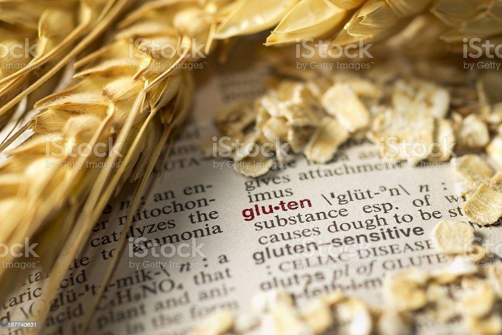 Definition of gluten stock photo
