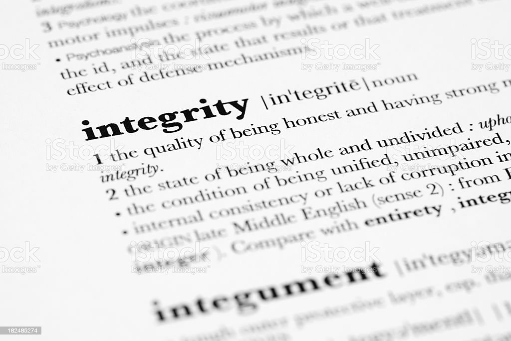 Definition of Integrity. royalty-free stock photo