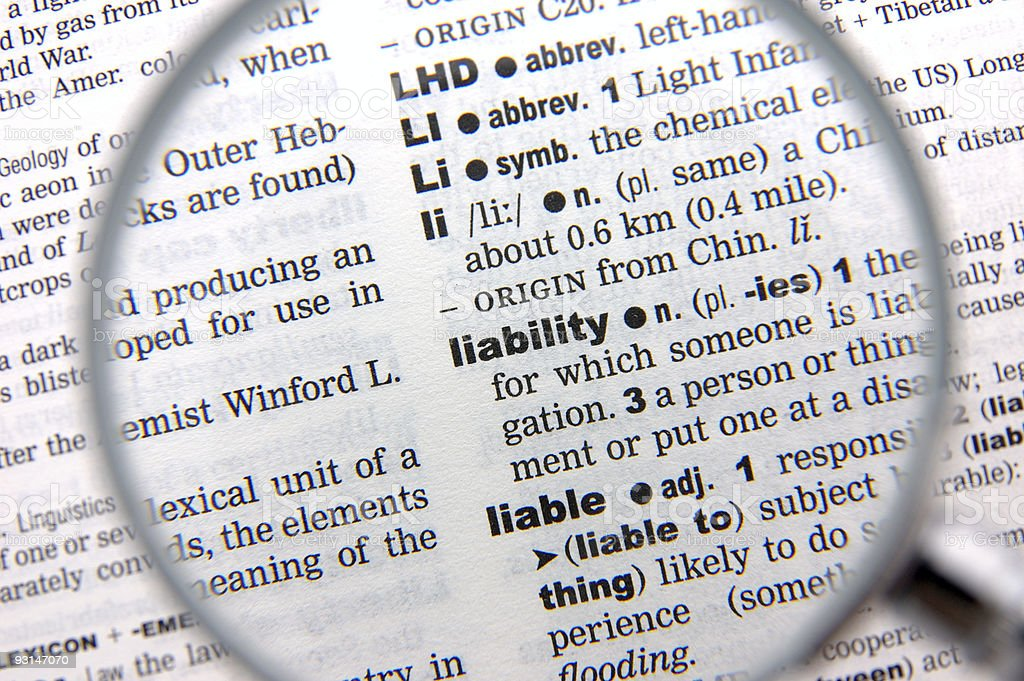 Definition of lability stock photo