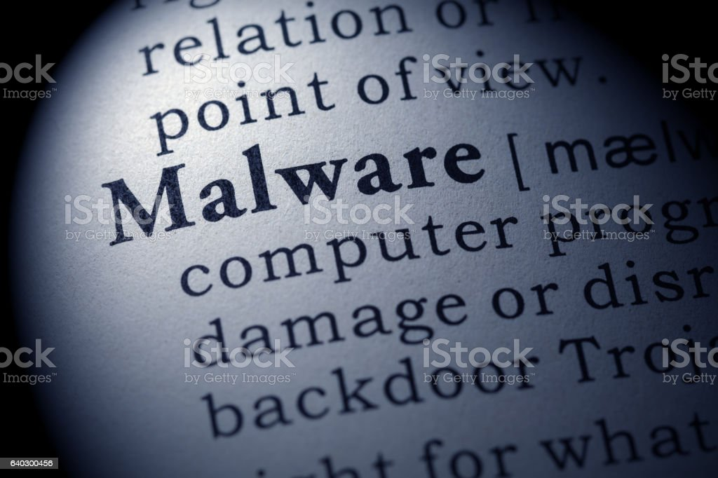 definition of Malware stock photo