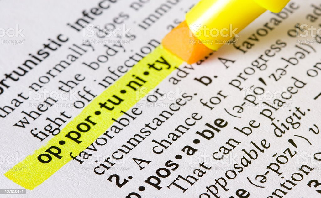 Definition of Opportunity royalty-free stock photo