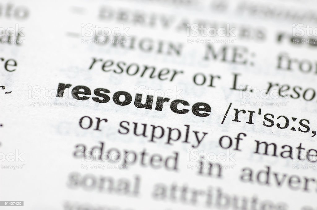 Definition of resource royalty-free stock photo