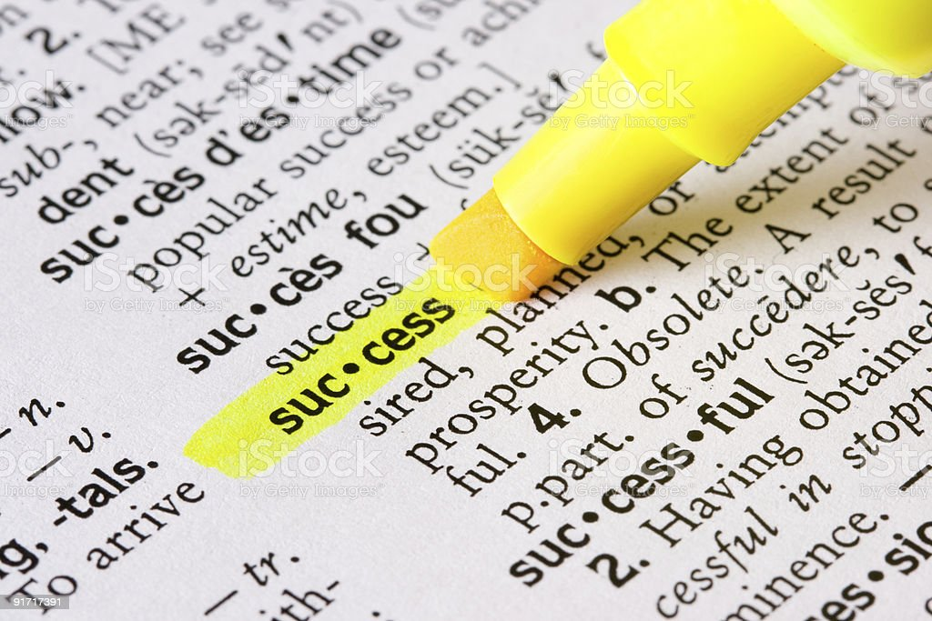 Definition of Success royalty-free stock photo