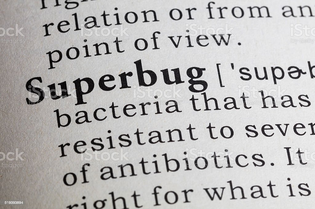 definition of superbug stock photo