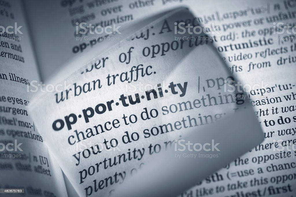 Definition 'opportunity' royalty-free stock photo