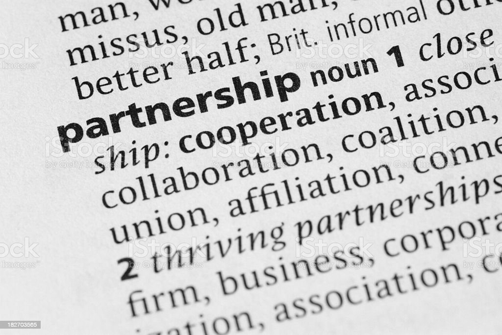 Definition: Partnership royalty-free stock photo