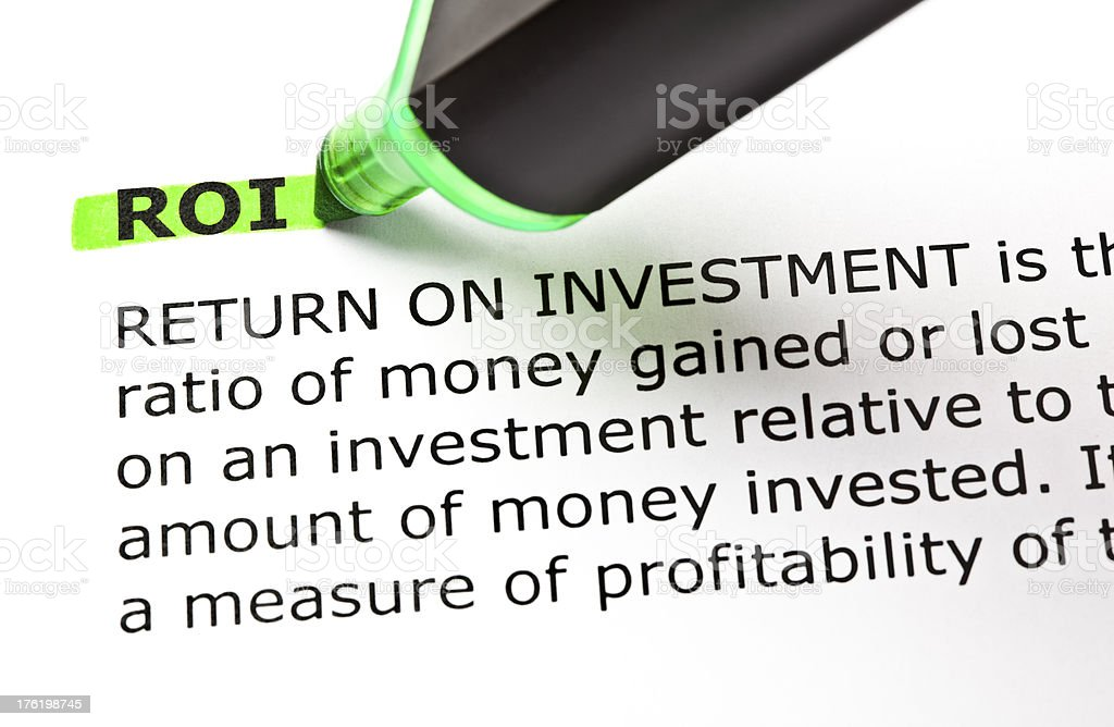 ROI Definition stock photo