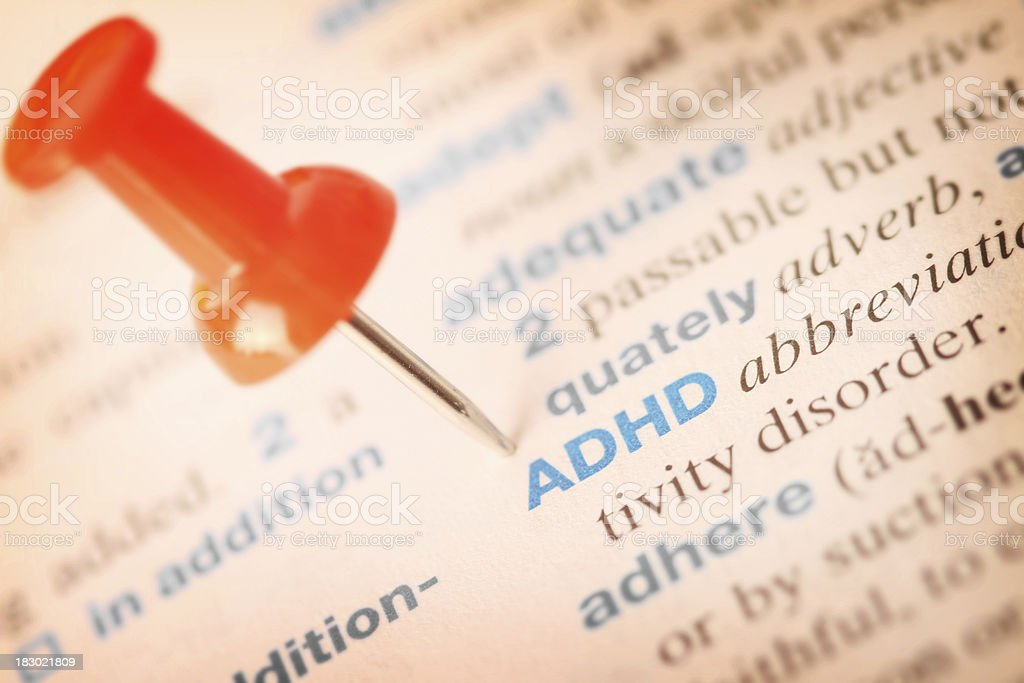 ADHD Definition stock photo