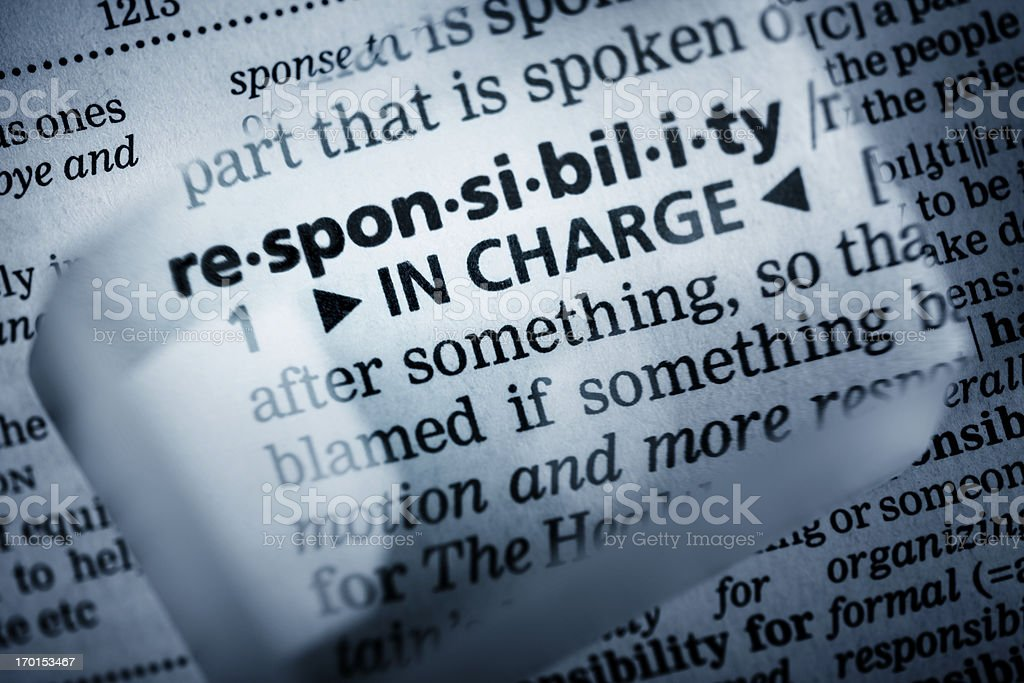 Definition 'responsibility' royalty-free stock photo