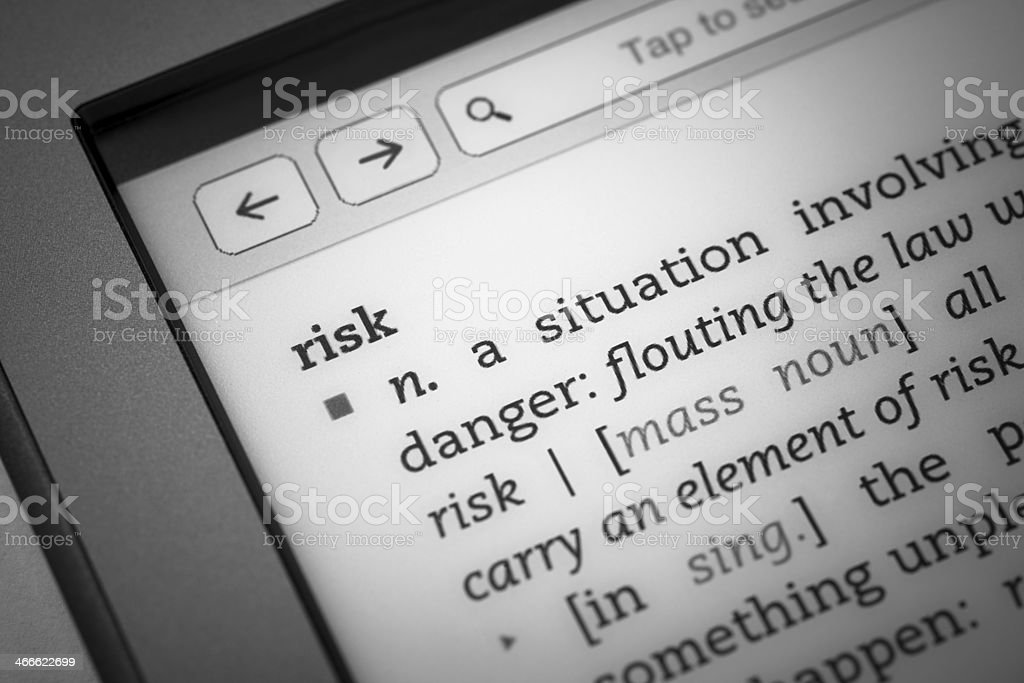 Definition 'risk' stock photo