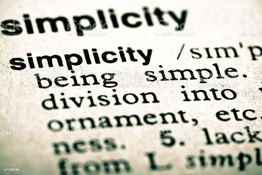 Definition: Simplicity royalty-free stock photo