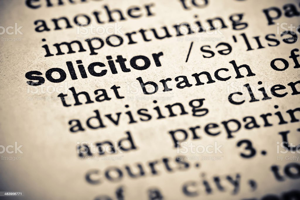 Definition: Solicitor royalty-free stock photo