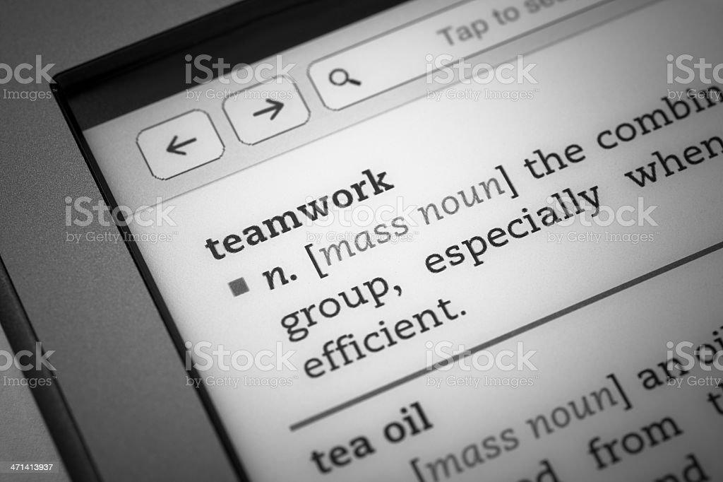 Definition 'teamwork' stock photo